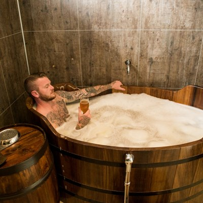 Captain of the national team in the beer spa north iceland