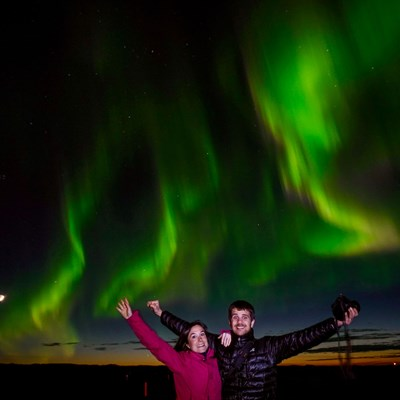 auroras whale watching tour iceland